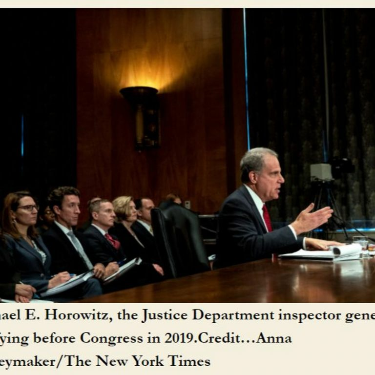 6:07 AM 1/26/2021 – INVESTIGATE THE INVESTIGATORS! The DOJ and FBI roles in the Capitol Riot.