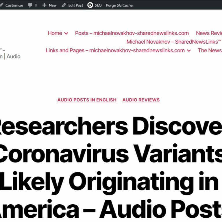 Researchers Discover Coronavirus Variants Likely Originating in America – January 16, 2021 – 8 AM